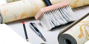 ferramentas para aplicação de papel de parede