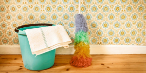 limpar papel de parede