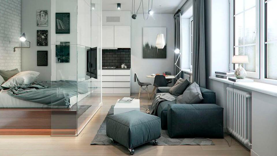 papel de parede para apartamentos pequenos cores escuras