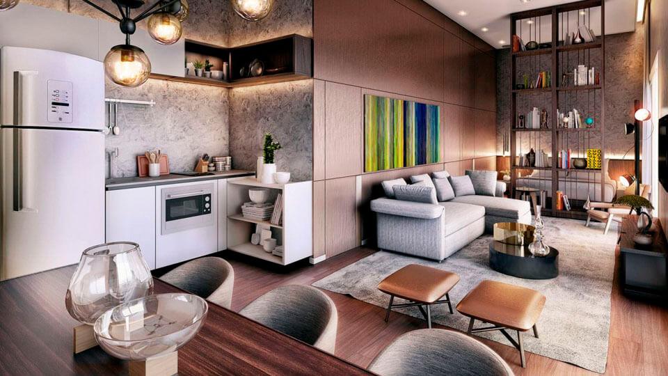 papel de parede para apartamentos pequenos detalhes mecanicos