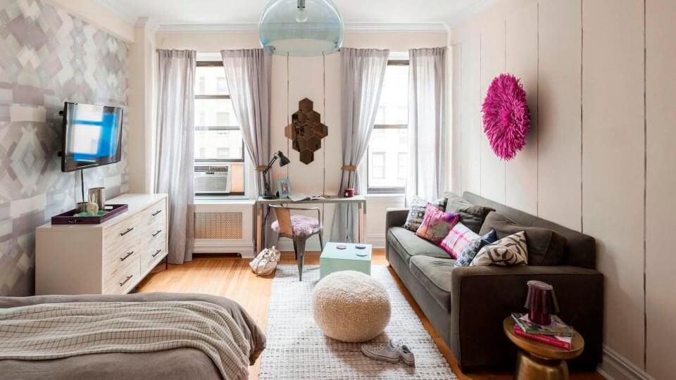 papel de parede para apartamentos pequenos cores claras