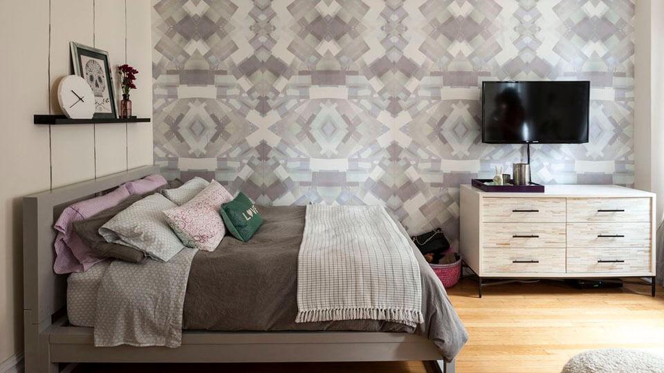 papel de parede para apartamentos pequenos cores claras 2