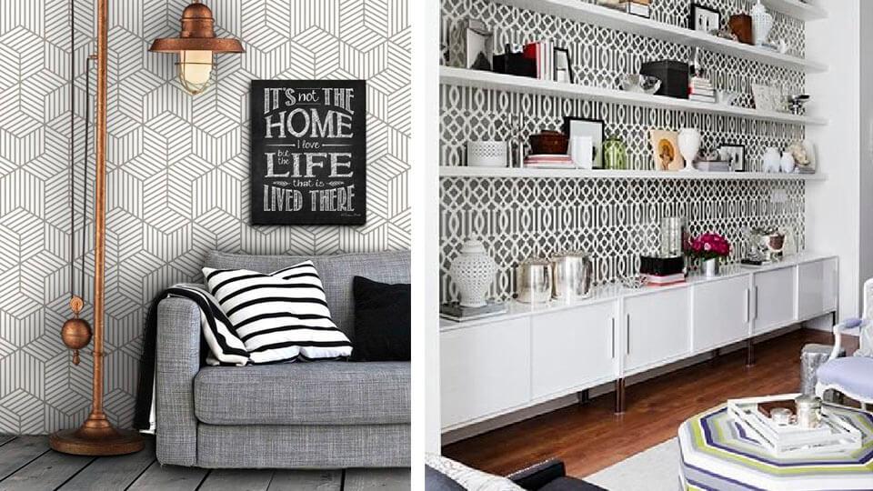papel de parede para apartamentos pequenos cores deslumbrantes