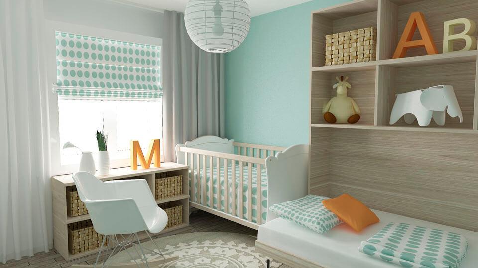 Papel de Parede Infantil para Quarto  Quarto de Bebê com Papel de Parede