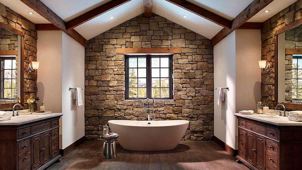 papel de parede para banheiro - pedras