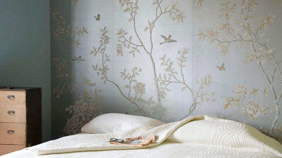 modelos de papel de parede de seda