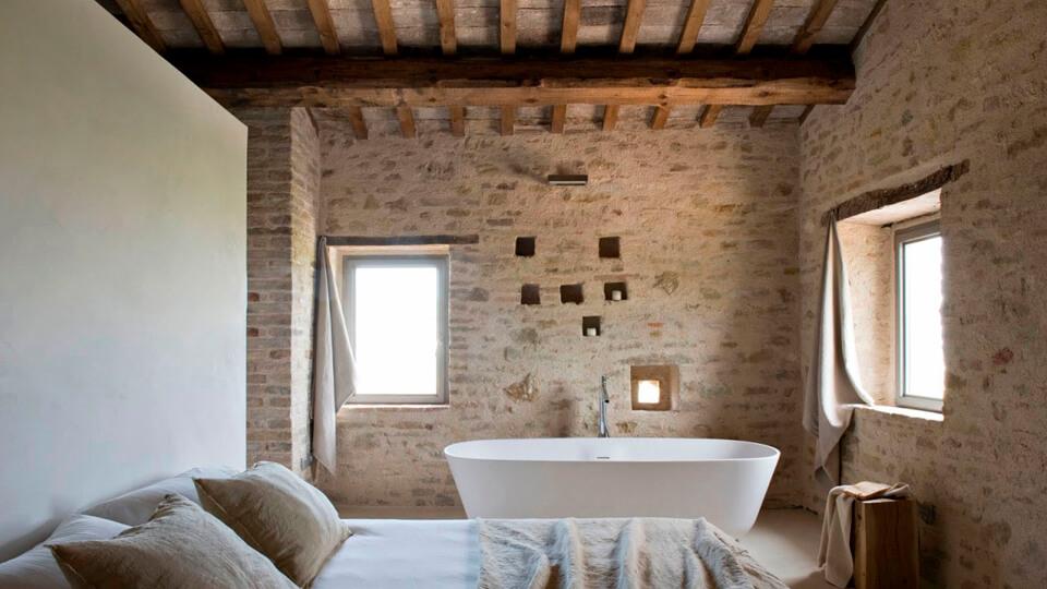 papel de parede para banheiro - pedra