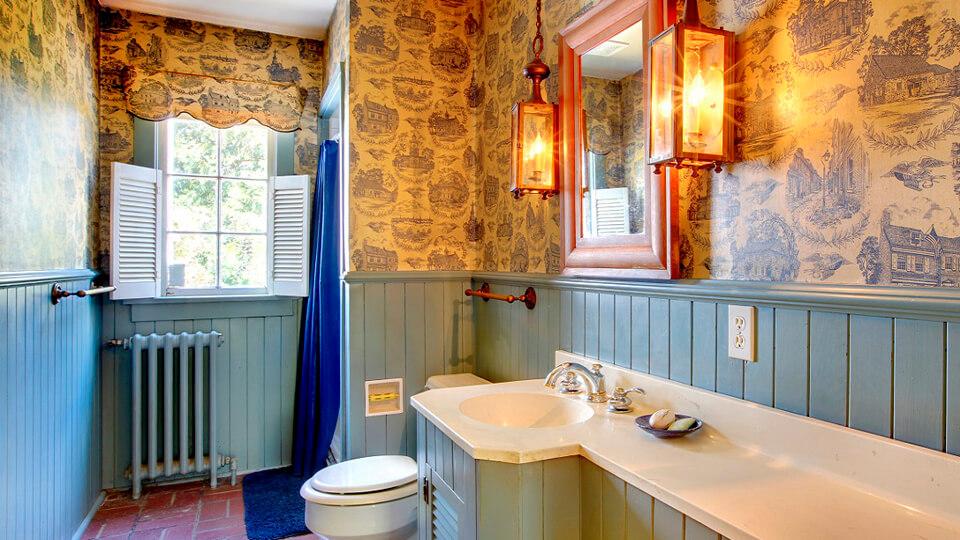 papel de parede para banheiro - vinilico