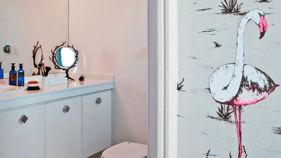 ambientes decorados com papel de parede