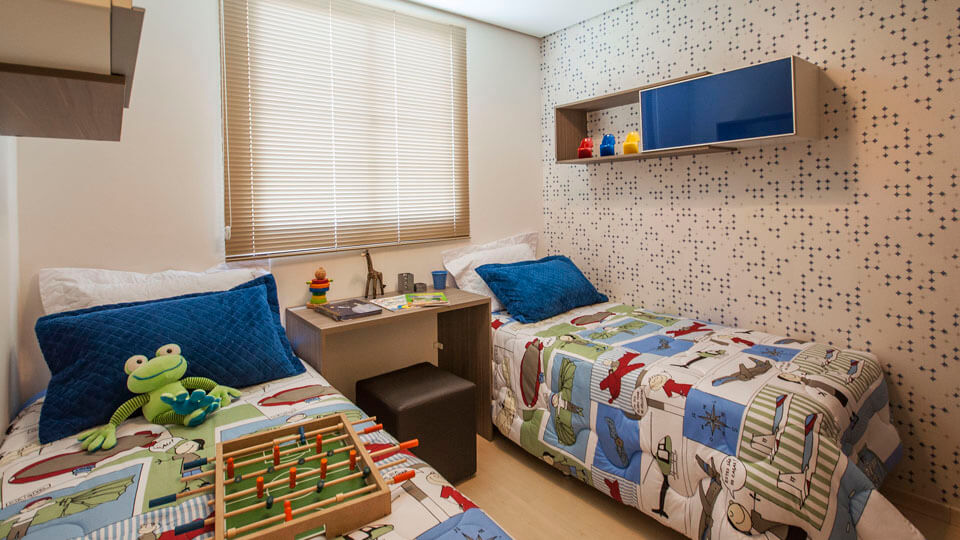 11 ideias de quarto de menino com papel de parede blog dero - Papel de pared moderno ...