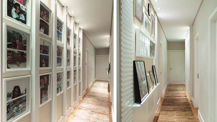 galeria particular como decorar o corredor