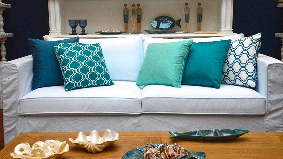 decorar a sala com almofadas