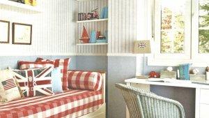 quartos com papeis de parede listrado