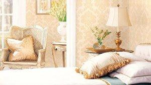 quartos com papeis de parede arabesco