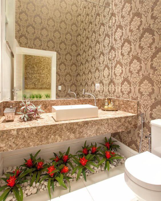 papel de parede para banheiro 3d