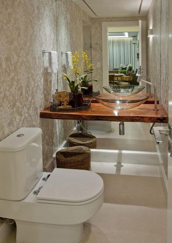 papel de parede para banheiro - dourado