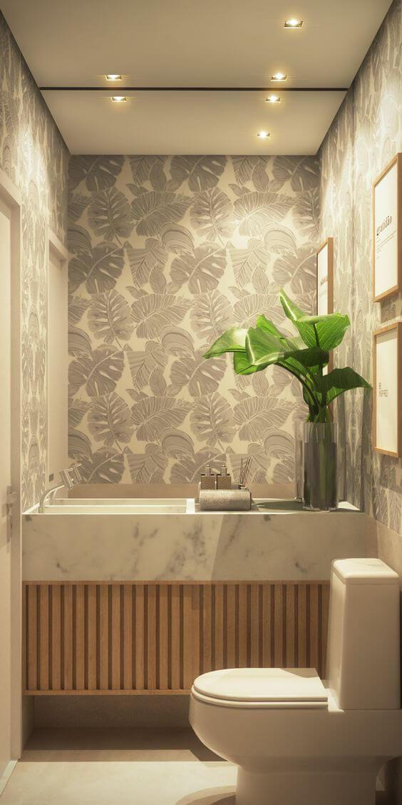 papel de parede floral prata