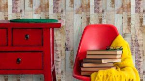 papel de parede rustico - madeira