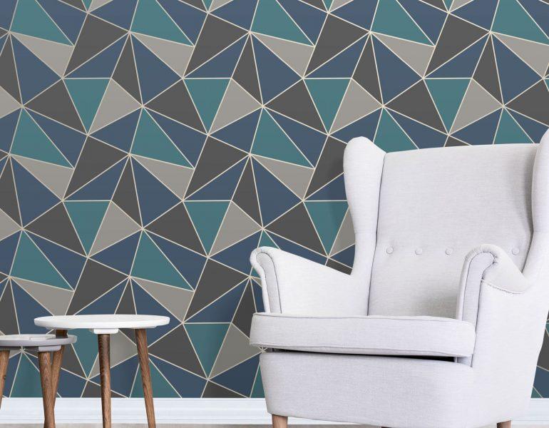 papel-de-parede-geometrico-na-decoracao